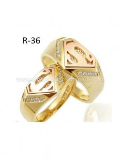 Cincin Kawin Model Superman R-36